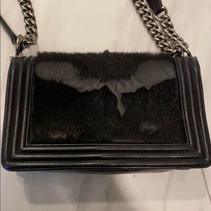 CHANEL Bags - Chanel Boy bag with fur!